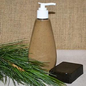 Дегтярное жидкое мыло ручной работы